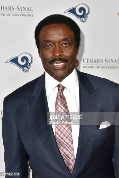 Former American football defensive back Jim Hill attends the 2017 CedarsSinai Board of Governors Gala at The Beverly Hilton Hotel on October 4 2017...