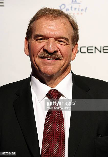 Former American football player Dan Dierdorf attends the grand opening of the CBS Scene Restaurant Bar at Patriot Place on September 6 2008 in...