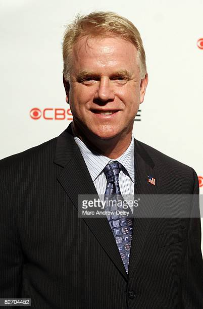 Former American football quarterback Boomer Esiason attends the grand opening of the CBS Scene Restaurant Bar at Patriot Place on September 6 2008 in...