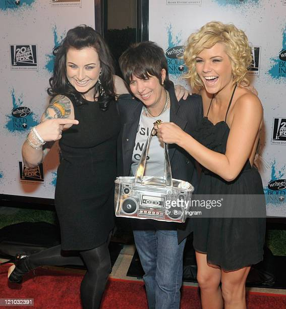 Former American Idol contestant Carlie Simpson and honoree/screenwriter Naomi Foner and former American Idol contestant Kimberly Caldwell arrive at...