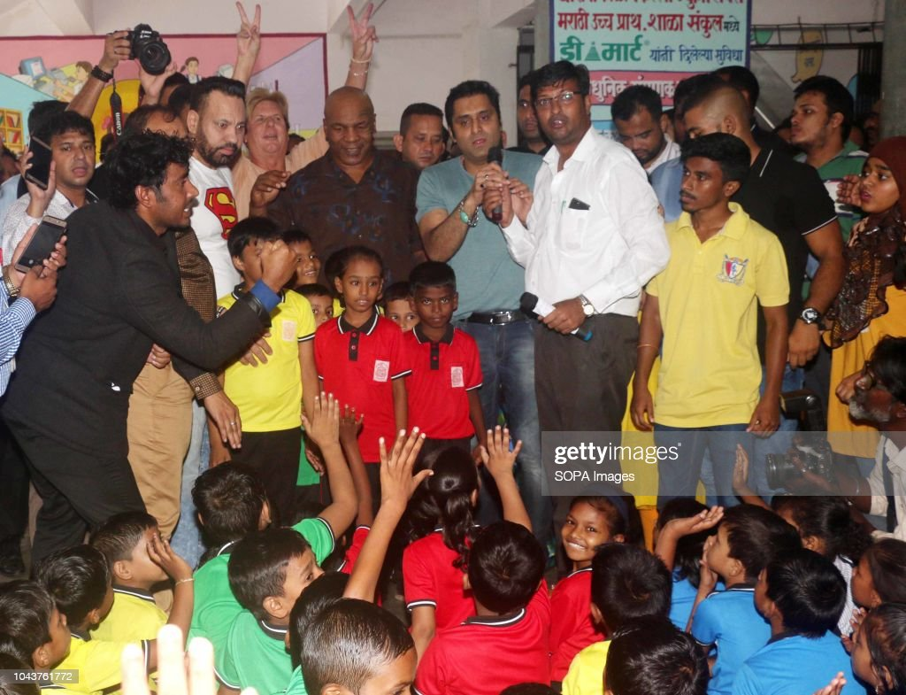 Former American Professional Boxer Mike Tyson Seen Visiting Children News Photo Getty Images