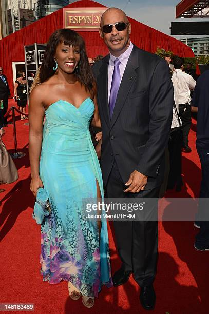 Former American professional football player Kellen Winslow and guest arrive at the 2012 ESPY Awards at Nokia Theatre LA Live on July 11 2012 in Los...