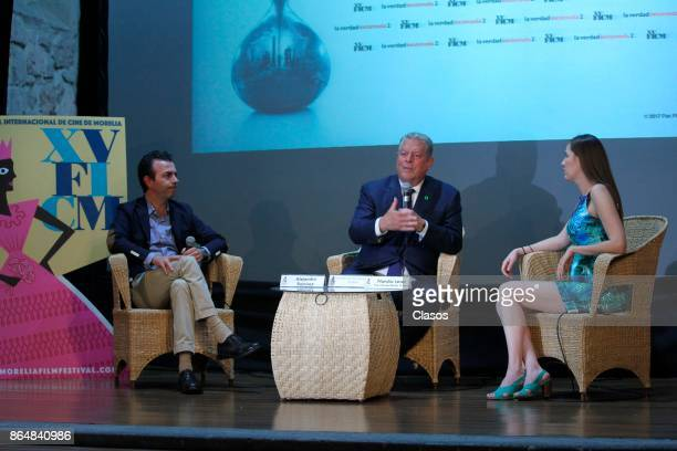Former American Vice President Al Gore attends to the conference to present the Documentary 'An Inconvenient Sequel Truth to Power' as part of the XV...