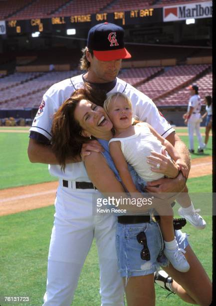 Former Anaheim Angels pitcher Chuck Finley with Tawny Kitaen and their daughter Winter in a 1992 file photo The actress wife of former Anaheim Angels...