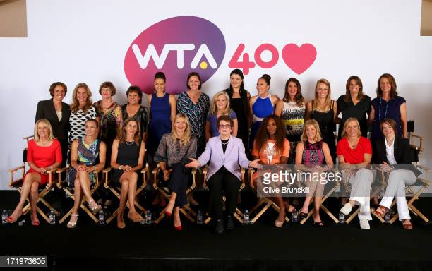 Former and current World Number One Mary Carillo Arantxa SanchezVicario Margaret Court Evonne GoolagongCawley Ana Ivanovic Lindsay Davenport Chairman...