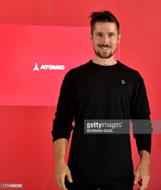 Former apline skier Marcel Hirscher of Austria poses during a media event in Salzburg on October 10, 2019. / Austria OUT