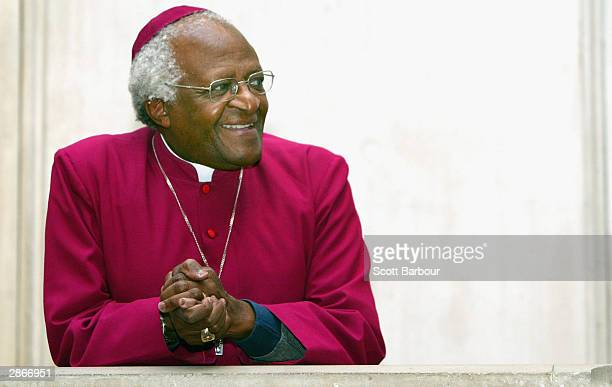 Former Archbishop of Cape Town Desmond Tutu takes up his position as Visiting Professor in Post Conflict Societies at Kings College London January 14...