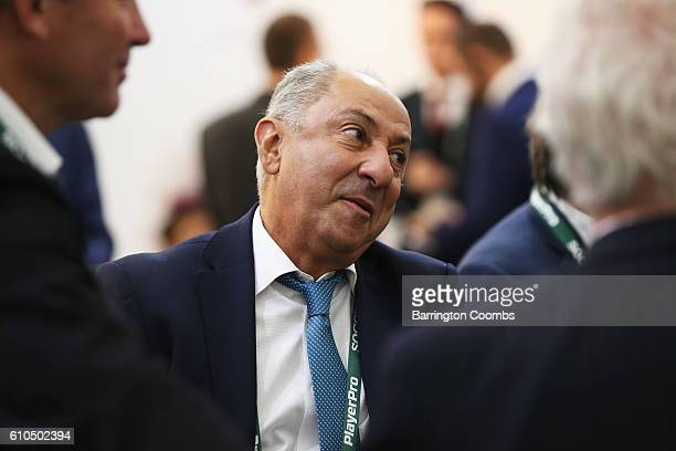 Former Argentina footballer Ossie Ardiles attends day 1 of the Soccerex Global Convention 2016 at Manchester Central Convention Complex on September...