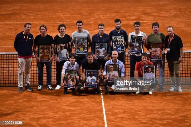 Former Argentina tennis players Cristian Miniussi, David Nalbandian, Gastón Gaudio, Juan Ignacio Chela, Agustín Calleri, José Acasuso, Horacio...