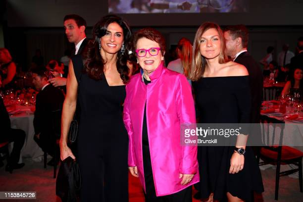 Former Argentine Grand Slam winner Gabriela Sabatini former American Grand Slam winner Billie Jean King and current French Open Champion Simona Halep...