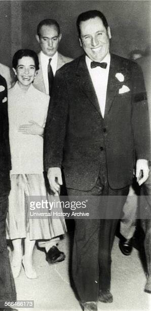 Former Argentine President Juan Peron with Nelida Rivas in Buenos Aires in 1955 Miss Rivas became his mistress in 1953 when she was 14 a few months...