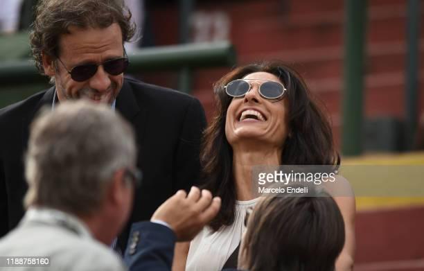Former argentinian tennis player Gabriela Sabatini smiles before the final match of the 126th Argentina Polo Open between La Dolfina Sancor Seguros...