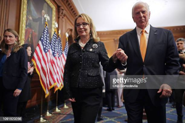 Former Arizona Congresswoman Gabby Giffords joins Rep. Mike Thompson , chair of the Gun Violence Prevention Task Force, and other gun violence...