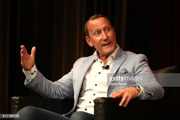 Former Arsenal Footballer Ray Parlour speaks during the Western Sydney Wanderers Gold Star Luncheon at The Westin on July 14, 2017 in Sydney,...