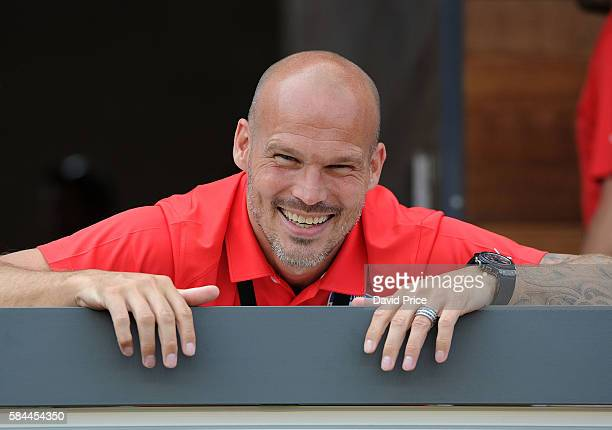 Former Arsenal player Freddie Ljungberg before the match between Arsenal and MLS All Stars at Avaya Stadium on July 28 2016 in San Jose California