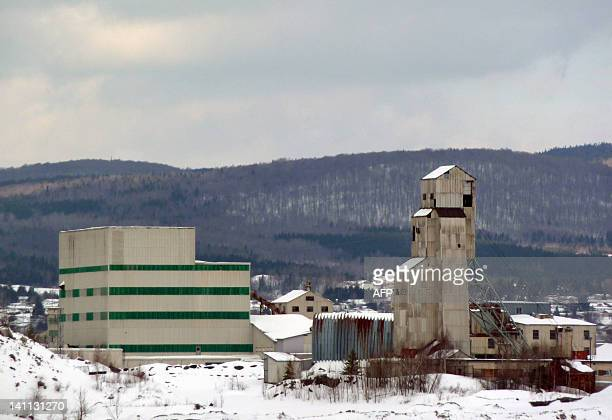 A former Asbestos plant is viewed on February 14 2012 in Thetford Mines Quebec Canada Thetford Mines was named in the past the world capital of...