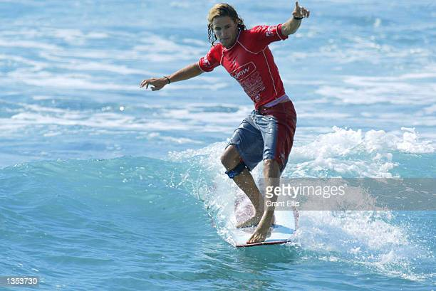 Former ASP World Longboard Champion Beau Young of Australia advanced to round four of the Oxbow World Longboard Championships at La Rocca Cabo San...