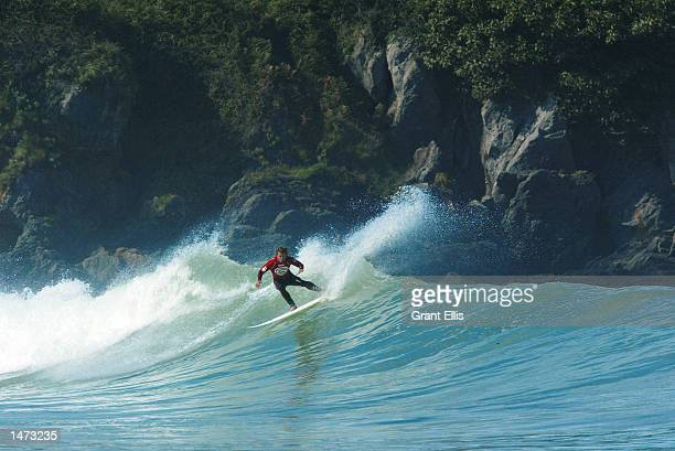Former ASP world number one Mark Occhilupo of Australia was eliminated by compatriot Luke Hitchings in Round 3 of the Billabong Pro at Mundaka Spain...