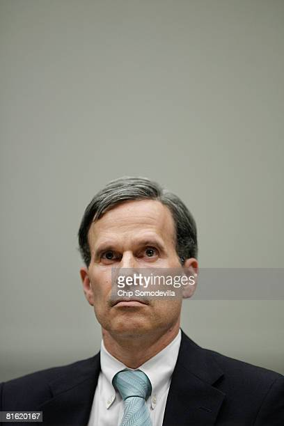 Former Assistant Attorney General Daniel Levin testifies before the House Judiciary Committee June 18 2008 in Washington DC Levin was forced to...