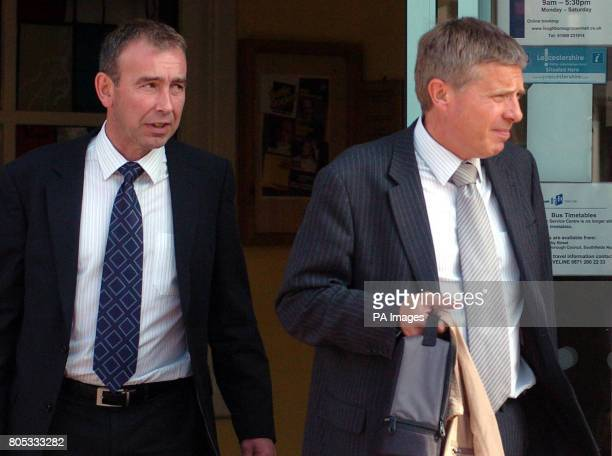 Former Assistant Chief Constable of Leicestershire Police Chris Tew and DS Richard Alexander pictured at the inquest into the deaths of Fiona...