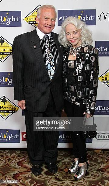 Former astronaut Buzz Aldrin and his wife Lois Aldrin attend the Starlight Children's Foundation's annual 2010 A Stellar Night gala at the Hyatt...