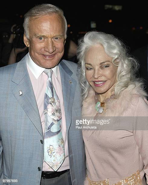 Former astronaut Buzz Aldrin his wife Lois Aldrin arrive at Millions of Milkshakes for the launching of Niecy Nash's milkshake at Millions Of...