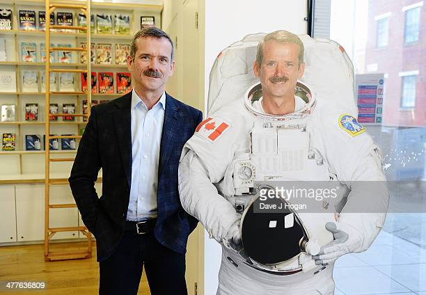Former astronaut Chris Hadfield poses during the Live From Space link up to the International Space Station in London The show will be aired on...
