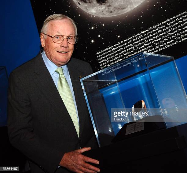 Former astronaut Neil Armstrong receives the NASA Ambassadors of Exploration award April 18, 2006 in Cincinnati, Ohio. Armstrong, who in 1969 became...