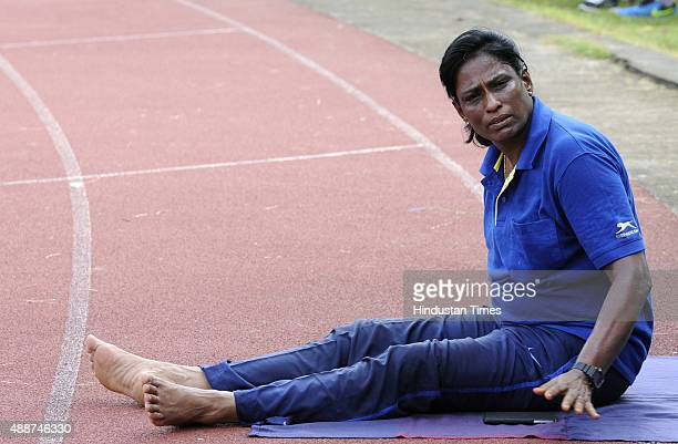 Former athlete and now coach PT Usha training during a training session at the 55th National Open Athletics Championships SAI Complex on September 17...