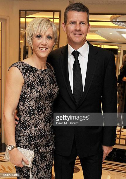 Former athlete Steve Cram and Allison Curbishley attend Lord Coe's 'Journey to 2012' event for the PSP Association at The Dorchester on October 16...