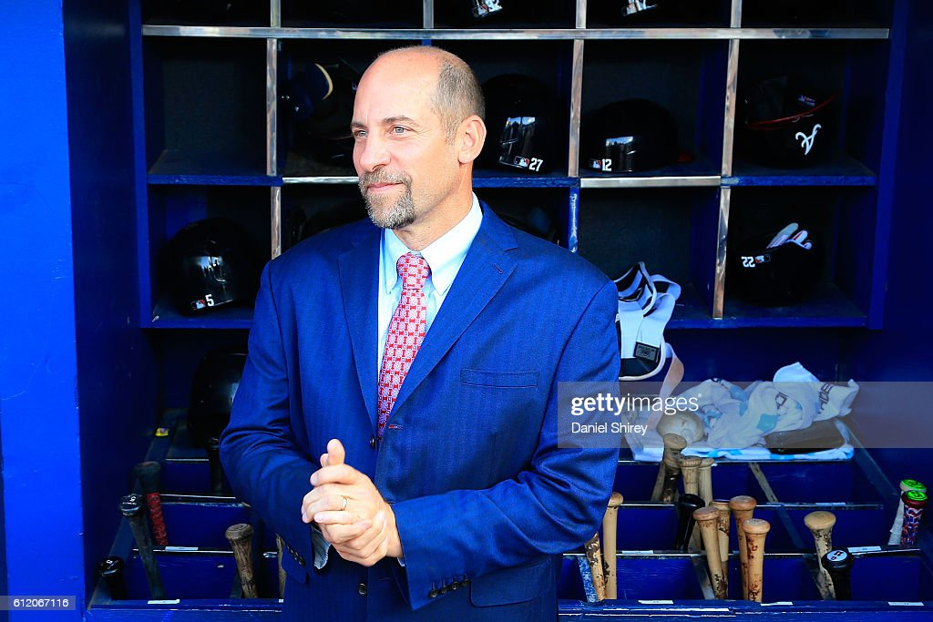 Former Atlanta Braves player John Smoltz stands in the dugout after the game against the Detroit Tigers at Turner Field on October 2, 2016 in Atlanta, Georgia.