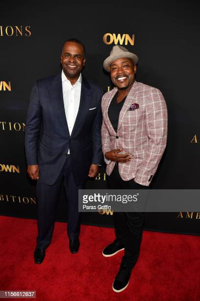 Former Atlanta mayor Kasim Reed and Will Packer attend Ambitions Premiere at The Gathering Spot on June 17 2019 in Atlanta Georgia