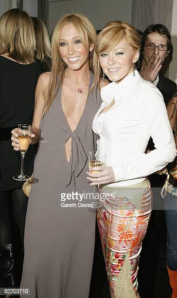 Former Atomic Kitten singers Jenny Frost and Natasha Hamilton attend the afterparty following the Elle Style Awards 2005 at the Z Rooms Truman...