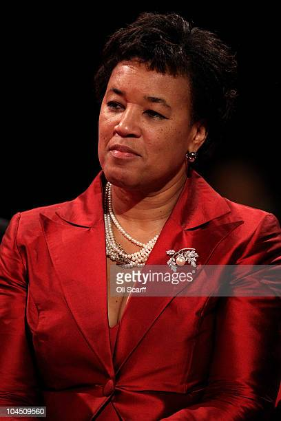 Former Attorney General Baroness Scotland listens to the speeches on the third day of the Labour party conference on September 28 2010 in Manchester...