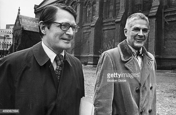 Former attorney general Elliot L Richardson with Archibald Cox right