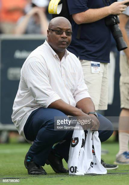 Former Auburn Tiger Bo Jackson watches from the sidelines during a football game between the Auburn Tigers and the Ole Miss Rebels Saturday October 7...