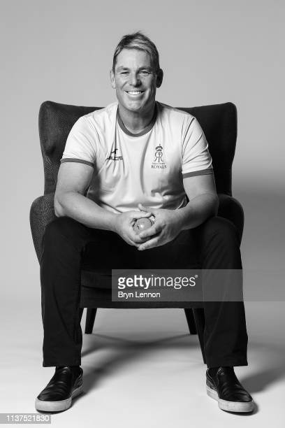 Former Australia and Rajasthan Royals player Shane Warne poses for a photo on March 18 2019 in Hammersmith England