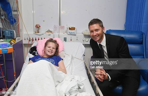 Former Australia cricket captain Michael Clarke poses with Jasmine after he announced his plan to join the Perpetual Loyal yacht racing team for the...