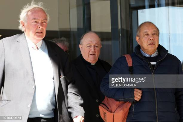 Former Australian archbishop Philip Wilson leaves a court in Newcastle on August 14 2018 Wilson a former Australian archbishop convicted of...
