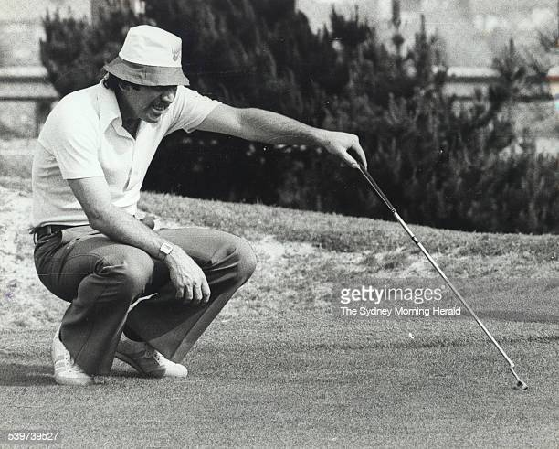 Former Australian cricket captain Ian Chappell plays golf at The Lakes Golf course in Kings Street at Mascot Sydney 29 September 1977 SMH Picture by...