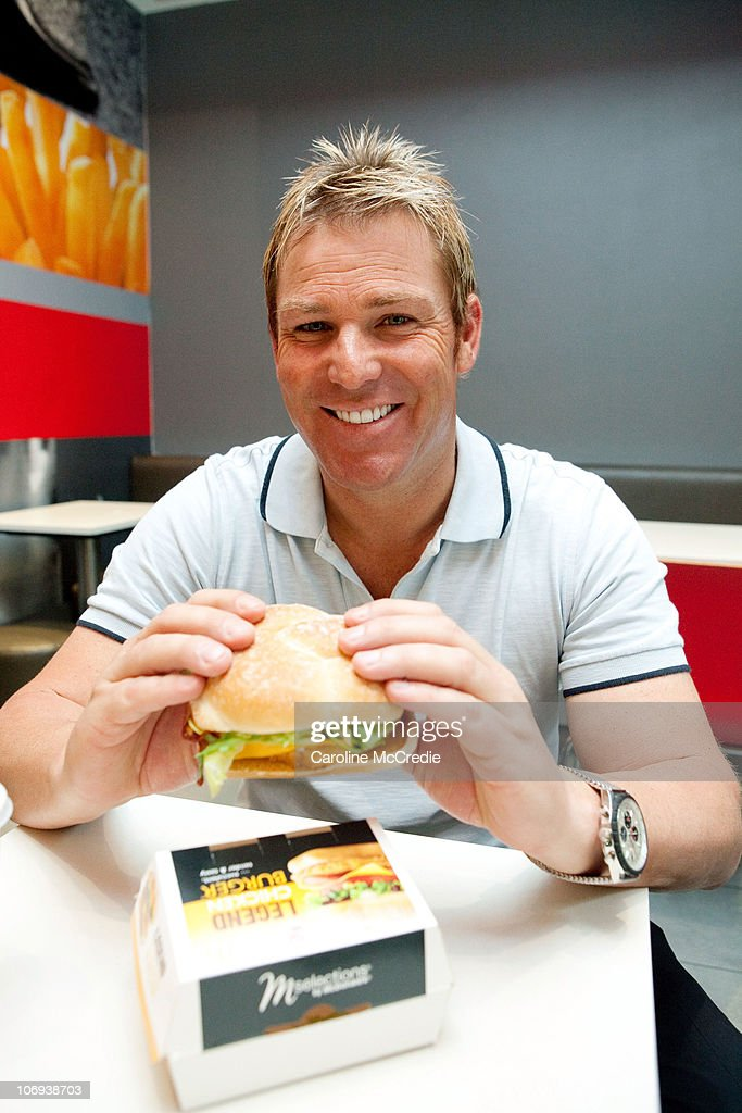 Shane Warne Launches 'The Legend' Burger With McDonald's