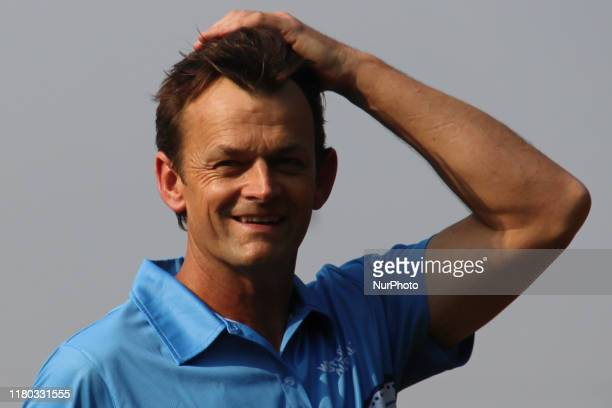 Former Australian Cricketer Adam Gilchrist smiles during a practice session with students of Magician Foundation India in Mumbai, India on 06...
