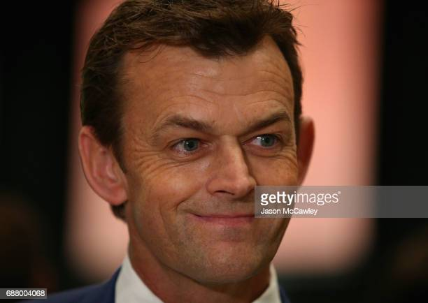 Former Australian Cricketer Adam Gilchrist speaks to the media at the GO Foundation Lunch at The Ivy on May 25 2017 in Sydney Australia