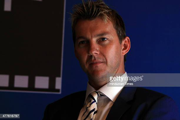 Former Australian cricketer Brett Lee during an interview at HT City on March 6 2014 in New Delhi India