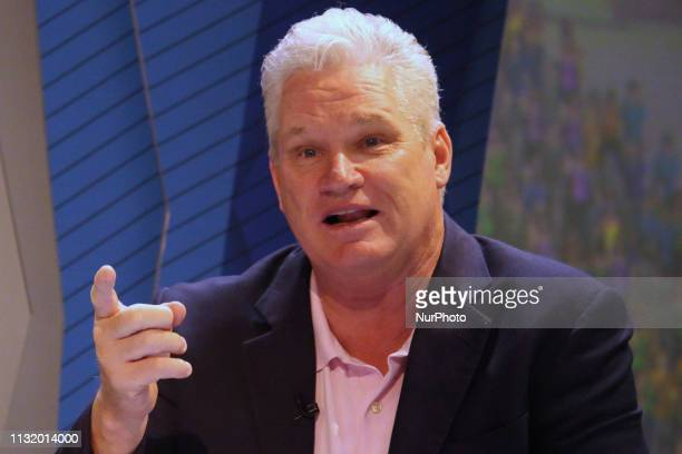Former Australian cricketer Dean Jones reacts while addressesing the media in a press conference in Mumbai India on 22 March 2019 As the official...
