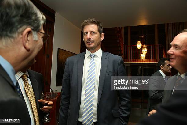 Former Australian cricketer Michael Kasprowicz during the launch of the book Profiles In Enterprise Inspiring Stories of Indian Business Leaders by...