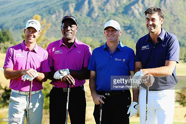 Former Australian cricketer Ricky Ponting, former West Indies cricketer Sir Viv Richards, New Zealand Prime Minister John Key and former New Zealand...