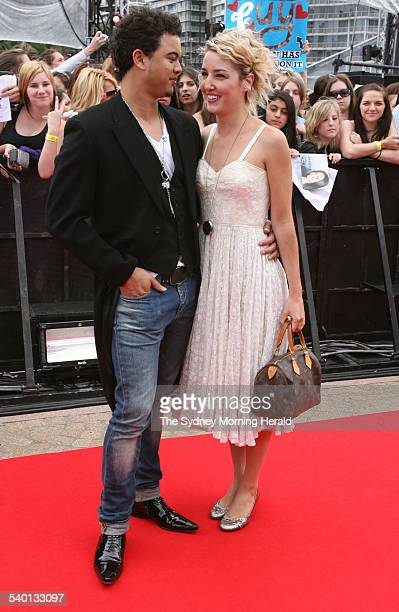 Former Australian Idol winner Guy Sebastian and girlfriend Julie Egan on the red carpet at the Sydney Opera House for the final of the 2006...