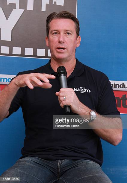 Former Australian international cricketer Glenn McGrath during an exclusive interview with HTCityHindustan Times as part of stars in the city series...