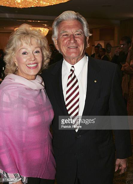 Former Australian Prime Minister Bob Hawke and his wife Blanche d'Alpuget attend the Life Education Australia 25th anniversary on September 14 2004...